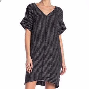 Madewell Striped V Neck Shift Dress